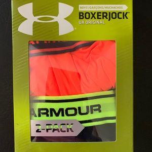 NWT boys u see armour underwear  2 pk M